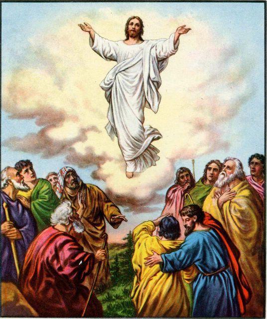 Heaven clipart ascension day Ascension Bible jesus Death Jesus'