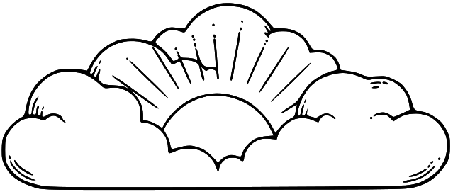 Heaven clipart black and white Black white clipart black clipart