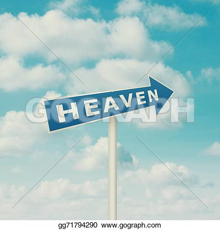 Heaven clipart blue sky To pointing gg71794290 sign heaven