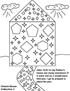 Heaven clipart coloring page Streets In Lesson Mansions Page