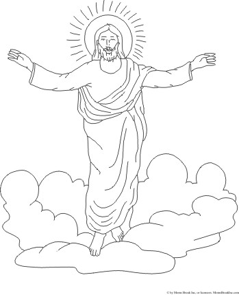 Heaven clipart coloring page Ascending Art for heaven Kid