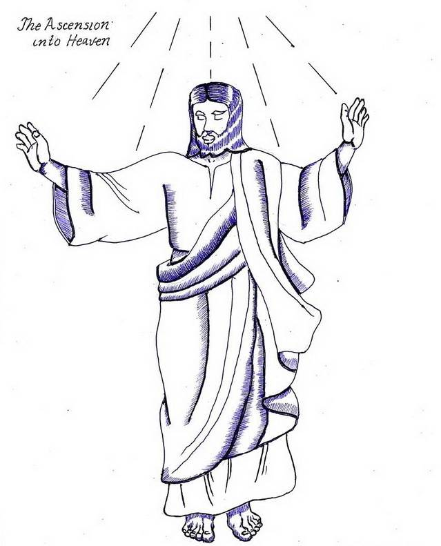 Heaven clipart colouring Christ of Coloring Pages Jesus