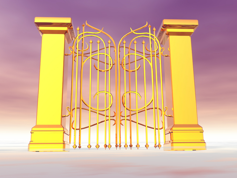 Heaven clipart gates opening  THROUGH THE of heaven's