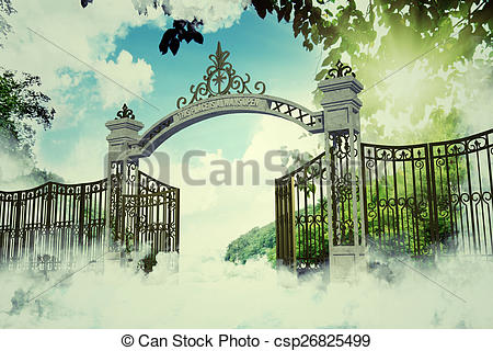 Heaven clipart gates opening Gate Stock  heaven in