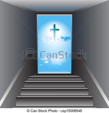 Heaven clipart god EPS Heaven to Cross Stairway
