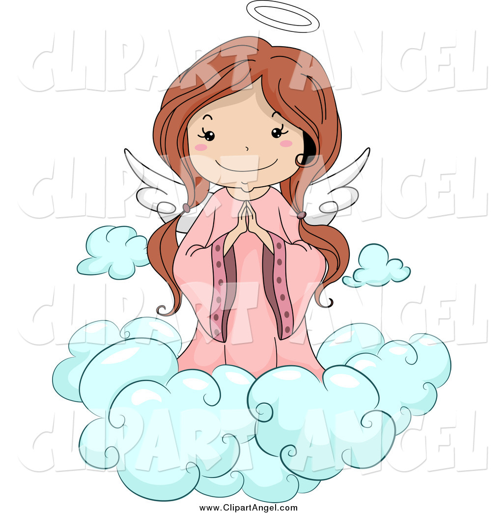 Brunette clipart angel Stock Free angels heaven Angel