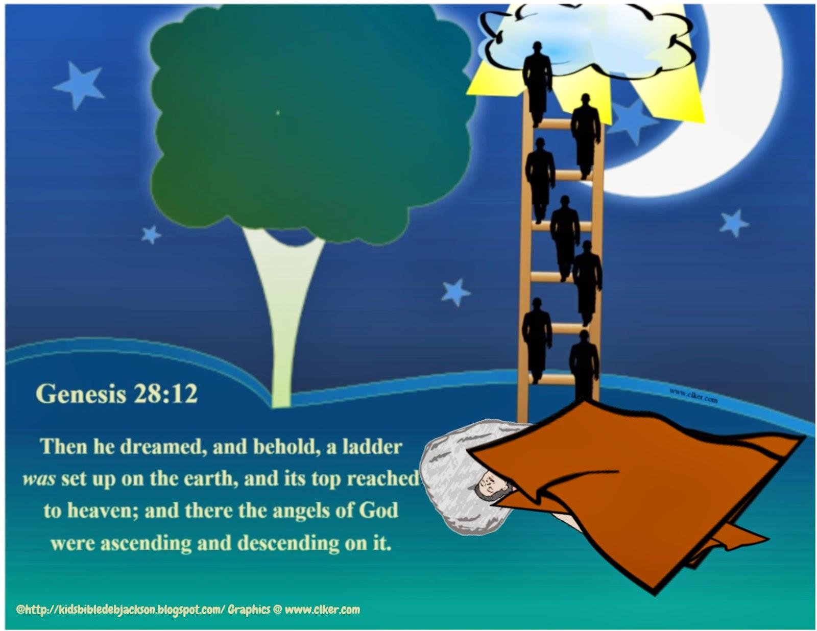 Heaven clipart jacob's ladder For Fun com biblefunforkids Genesis: