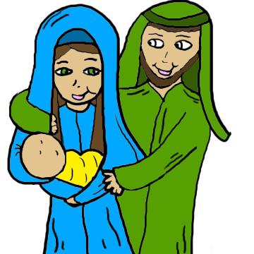 Heaven clipart joseph father jesus Art Image Art Manger Free
