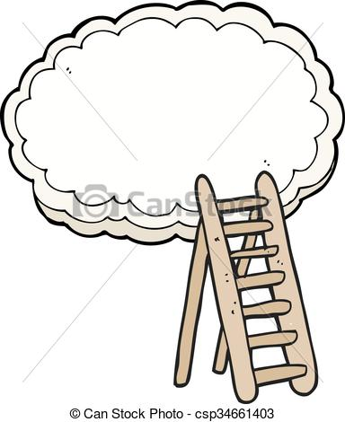 Heaven clipart lader Ladder drawn Clipart  cartoon