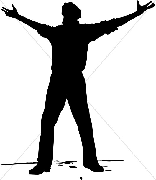 Heaven clipart man To Open with Arms Man