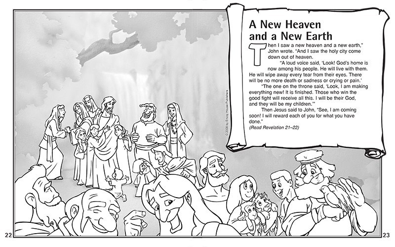 Heaven clipart new earth Coloring coloring Pictures And heaven