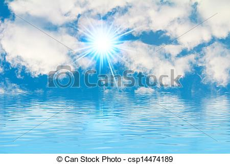 Heaven clipart peaceful Background blue csp14474189 heaven sun