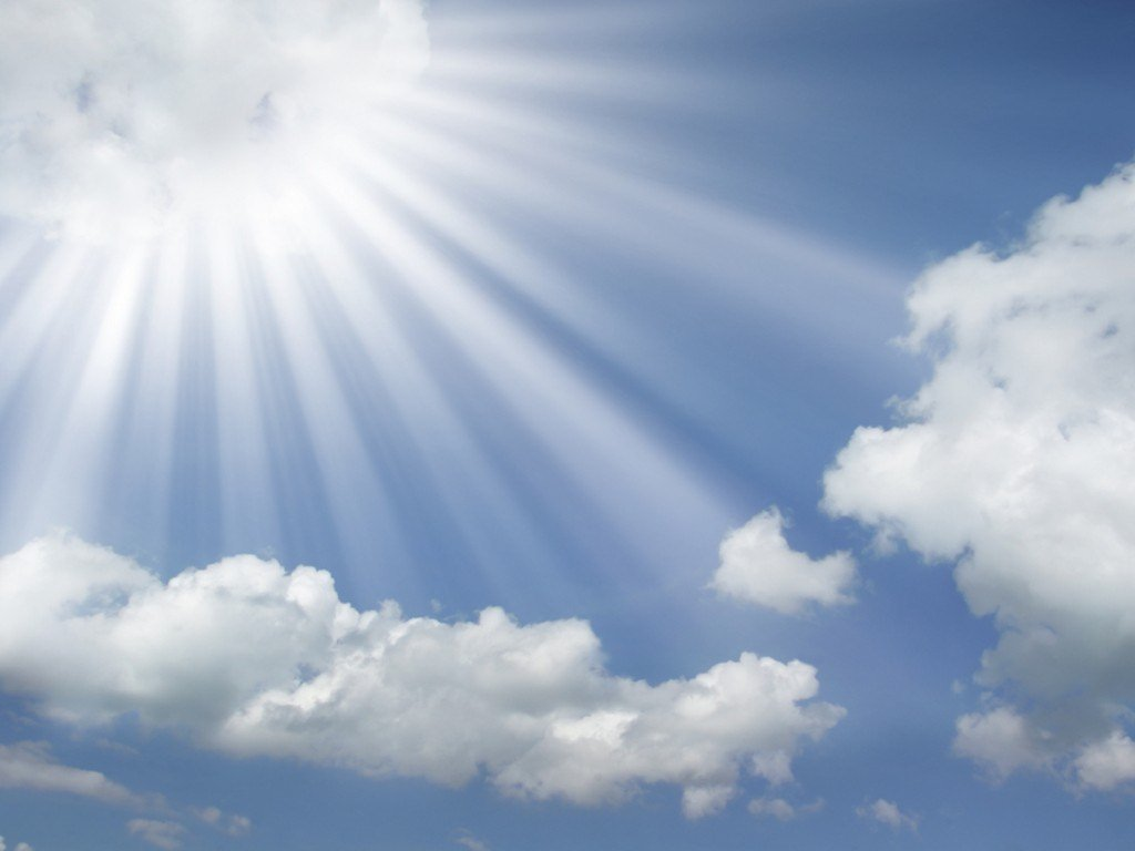Heaven clipart sun cloud On the Clipart rays out