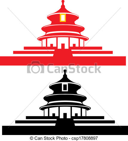 Heaven clipart vector Temple Beijing draw Temple csp17808897