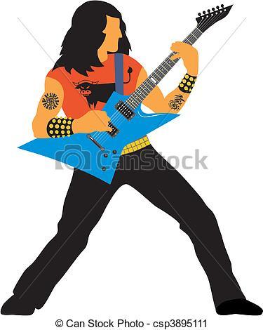 Heavy Metal clipart Guitarist stock artistSee  illustrations