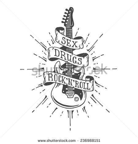 Heavy Metal clipart black and white And text with text metal