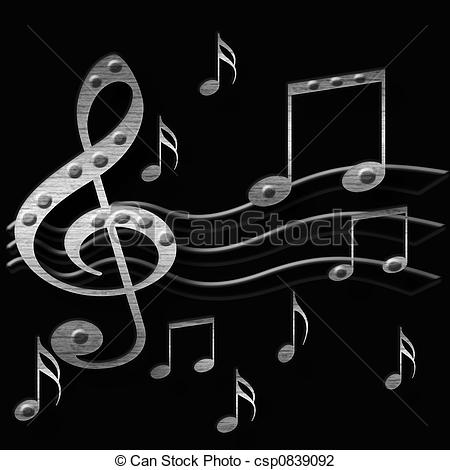 Heavy Metal clipart black and white  of music metal music