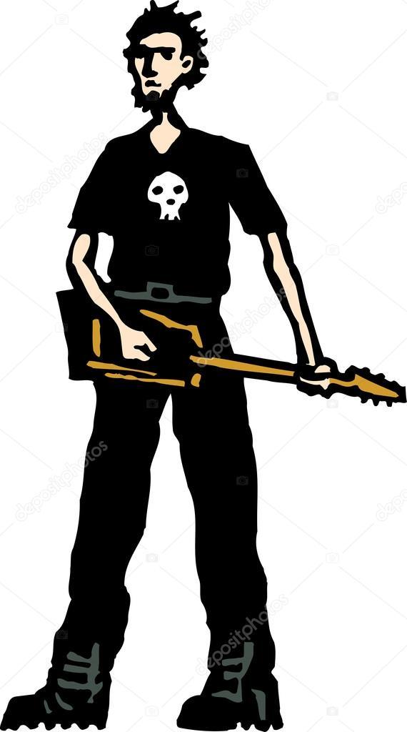 Heavy Metal clipart electric guitar Vector Stock Guitar Teen Vector