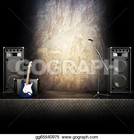 Heavy Metal clipart electric guitar Microphone background or Stock Clipart