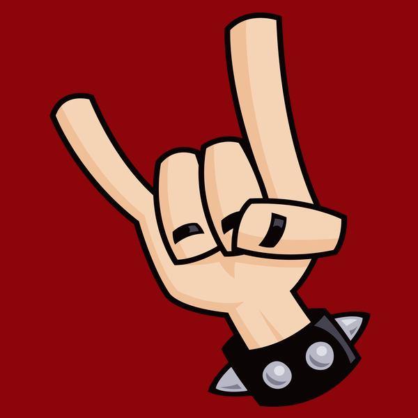 Heavy Metal clipart electric guitar Sign hand NeatoShop Heavy Metal