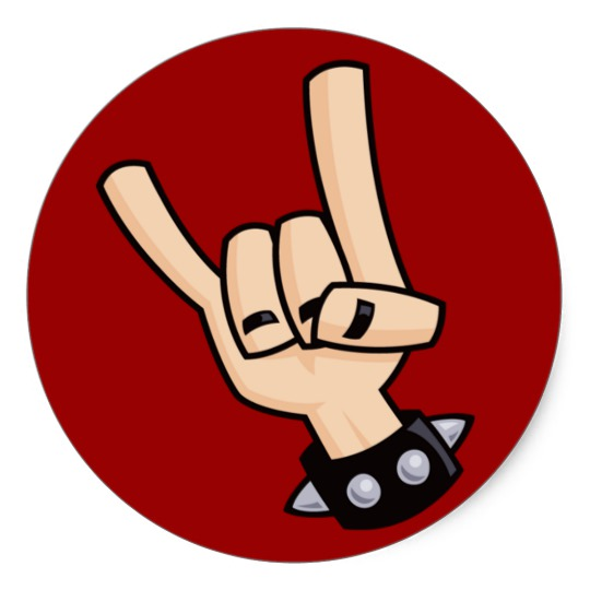 Heavy Metal clipart real Heavy metal hand sign round