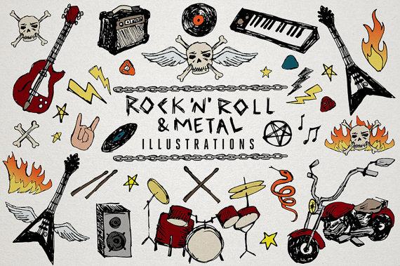 Heavy Metal clipart rocker Doodles & Art 'n' &