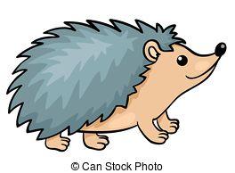 Hedgehog clipart Vector illustration 3 Hedgehog isolated