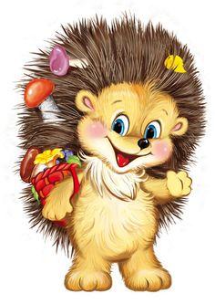 Hedgehog clipart hiran году! новом fleurs учебном и