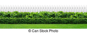 Hedges clipart black and white Clip white Illustrations fence Art