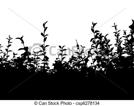 Hedges clipart black and white Illustrations and EPS white 2