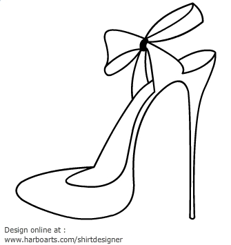 Drawn shoe high heeled shoe High High collection clipart heel