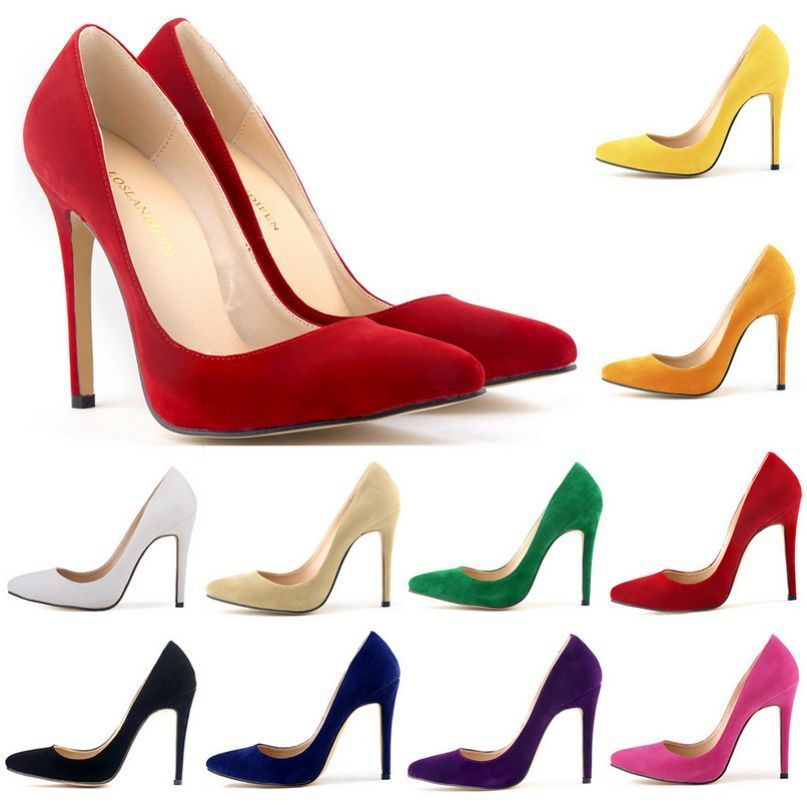 Heels clipart chic Toe Suede Chic Pointy Slip