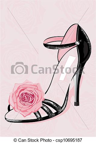 Heels clipart chic Shoe Vector Chic Fashion fashion