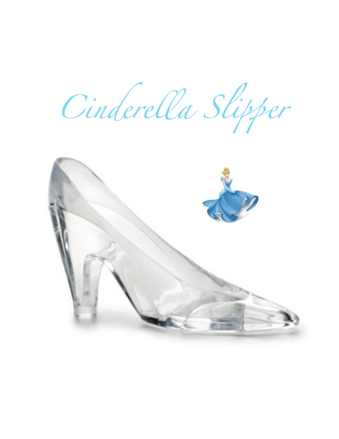 Bride clipart cinderella shoe One Slipper Glass Cake Large