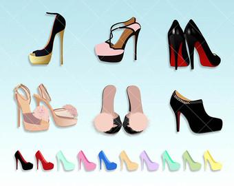 Heels clipart cute shoe Great scrapbooking Heels Clipart High