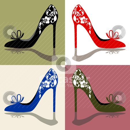 Heels clipart cute shoe Silhouettes Silhouettes Clip Art of