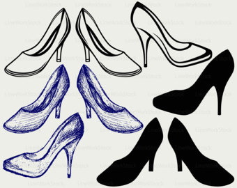 Heels clipart drawn Heels High High heels heel