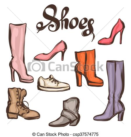 Heels clipart drawn Shoes  of drawn heels