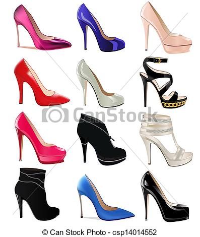 Heels clipart drawn High Shoes  set Templates