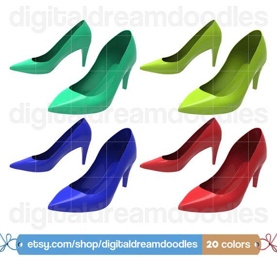 Heels clipart dress shoe Shoe Clipart Women Heel Women