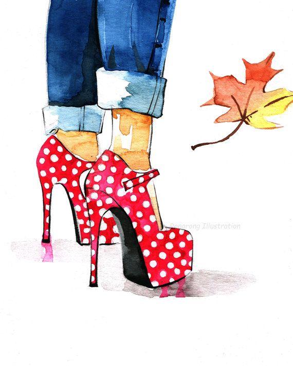 Heels clipart fashion illustration Best Art Girly Illustration illustration