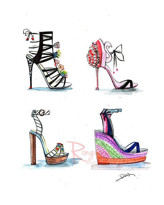 Heels clipart fashion illustration Sandals Dressing Gift webster illustrations