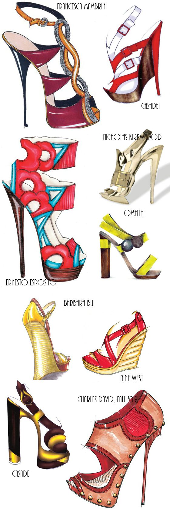 Heels clipart fashion illustration Shoe Caravan: Pinterest ✵Wheel on
