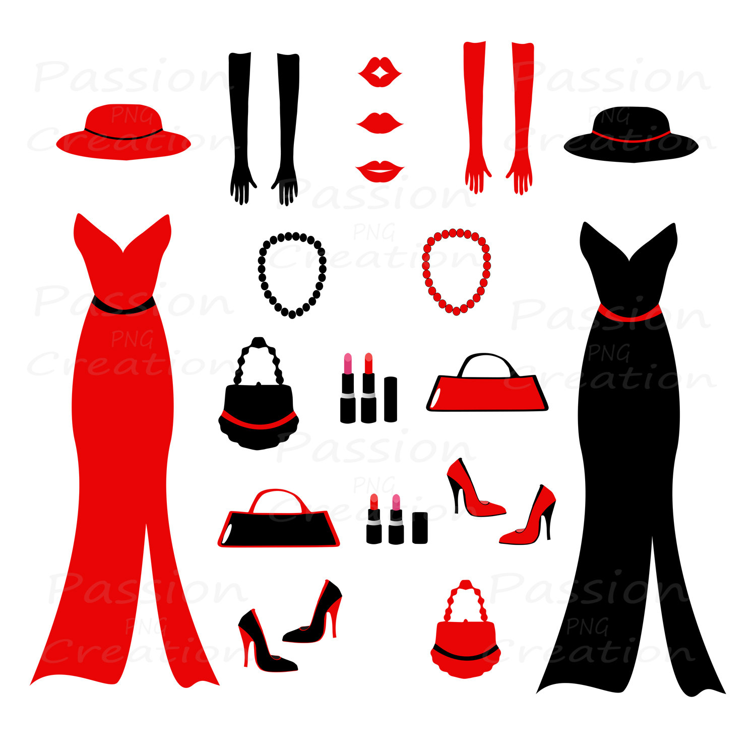 Red Dress clipart party dress Clip Shoes fashion on Art