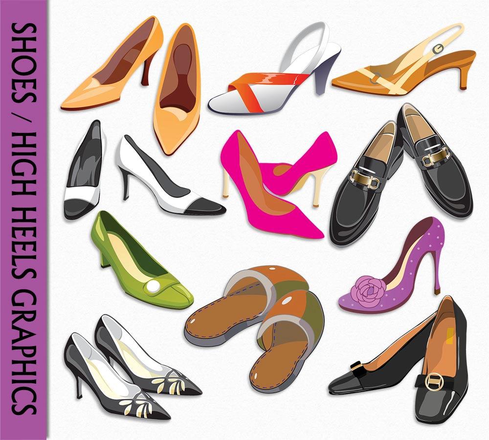 Heels clipart fashion shoe #7