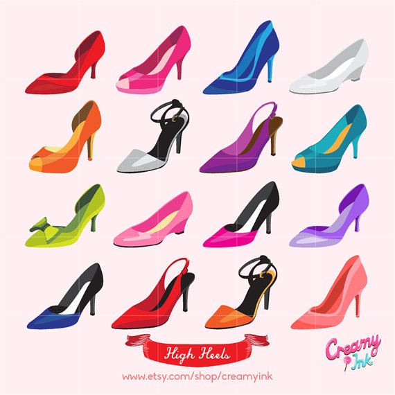 Heels clipart fashion shoe #5