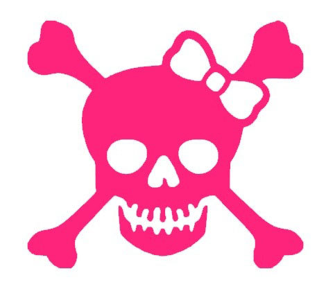 Ssckull clipart pink #2