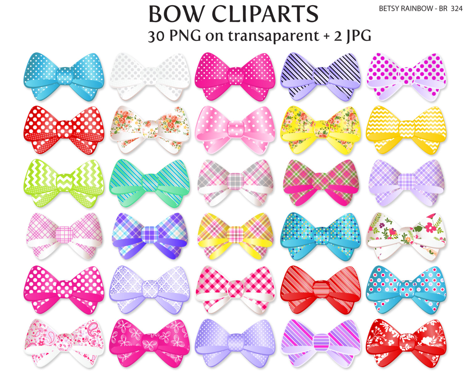 Pink Hair clipart girly bow And cliparts clipart clipart Etsy