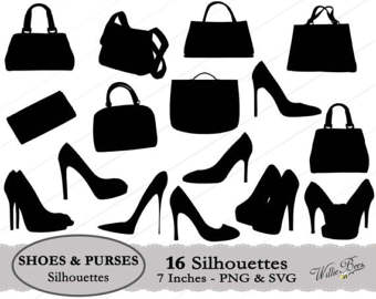 Shoe clipart handbag #2