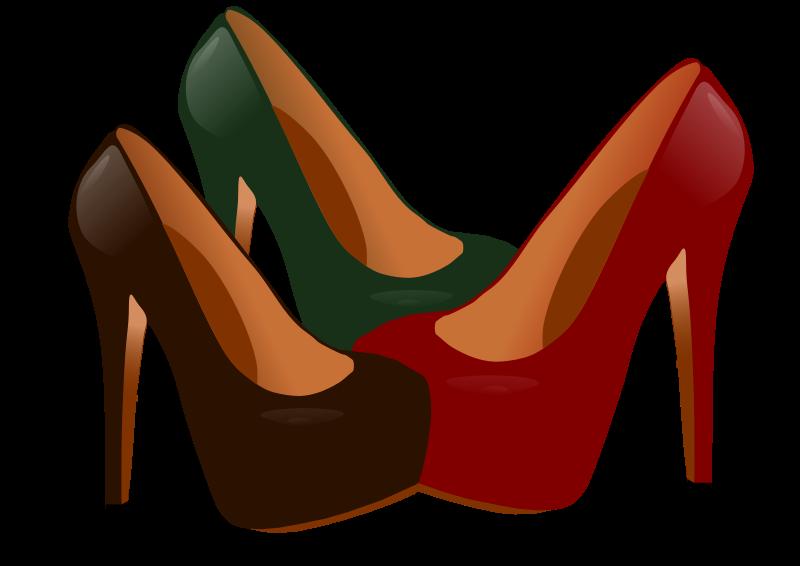 Heels clipart high heeled shoe To Public High Shoes Art